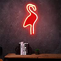 RaiFu LEDライト クリエイティブフラミンゴウォールハンギングランプバーパーティークラブインテリアネオンサインデザインロマンチックなディープムードランプ