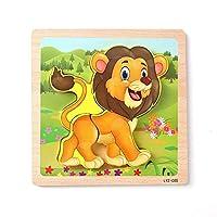 Domybest 立体パズル ブロック ボード 積み木 動物認知 キッズ 組立 誕生日 プレゼント 男の子 女の子 幼児 脳トレ 知的発達