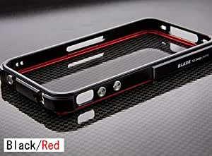 【iPhone4S/4対応】iphone ケース プレミアム BLADE Black/Red