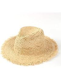ハット 麦わら帽子 100%ラフィア 夏 日よけ帽子  ビーチサンハット パナマ エレガントな女性
