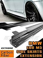 BMW 5シリーズ 5代目 E60 M5 カーボン サイド スカート エクステンション スポイラー 2PCS 左右セット 2004-2010
