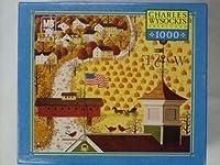 チャールズWysocki 's Americana 1000-pieceジグソーパズル–AppleシードWoods