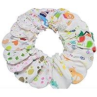ベビーミトン 新生児用 ひっかき防止 嬉しい 5組10枚入り フリーサイズ 左右兼用 日替わり アソートセット