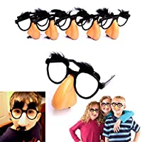 Classic Disguise | Great Party Favor| Disguise Glasses with Funny Nose, Eyebrows & Mustache Glasses | Pack of 6 | Manufactured By Dazzling Toys [並行輸入品]
