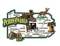 Pennsylvania Jumbo State Map Fridge Magnet by Saddle Mountain Souvenir