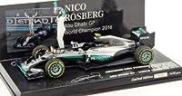 PMA ミニチャンプス 1/43 メルセデス AMG ペトロナス フォーミュラ ワン チーム F1 W07 #6 ニコ・ロズベルグ ワールドチャンピオン 2016 フィギュア付
