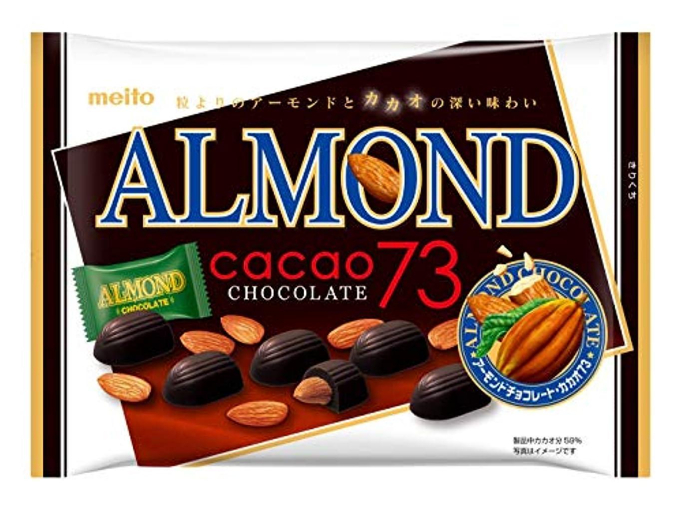 オークランド印刷する急ぐ名糖産業 アーモンド カカオ73 チョコレート 19粒×6袋