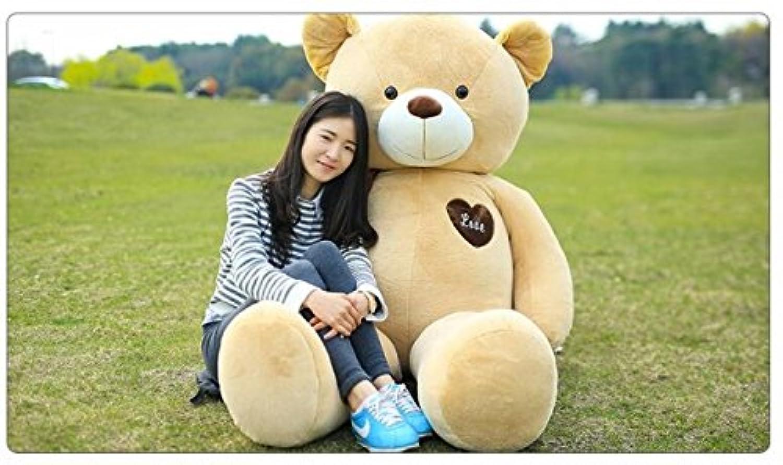 BEARS'HOMEくま ぬいぐるみ デデイベア クマ 抱き枕 大きい 特大 熊 だきまくら プレゼント ギフト 動物 3色(120cm, ライトブラウン)