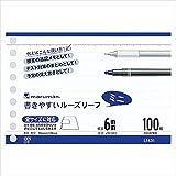マルマン:書きやすいルーズリーフ ミニ B7変形判(9穴) 白 100枚 罫種類:6mm罫×12行 L1431 15189