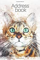 """Address Book: Address Book with bengal cat, save important personal information, dimension 6""""x9"""", a great gift for woman, grandmother, man, girl, kid, friend, animal lover. Exellent contact organizer. Cat cover."""