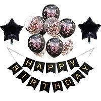 13ピースで1セット幸せな誕生日印刷ホオジロと蝶デザイン風船セット紙吹雪五ta星風船誕生日パーティー用品ラテックス風船パーティー装飾