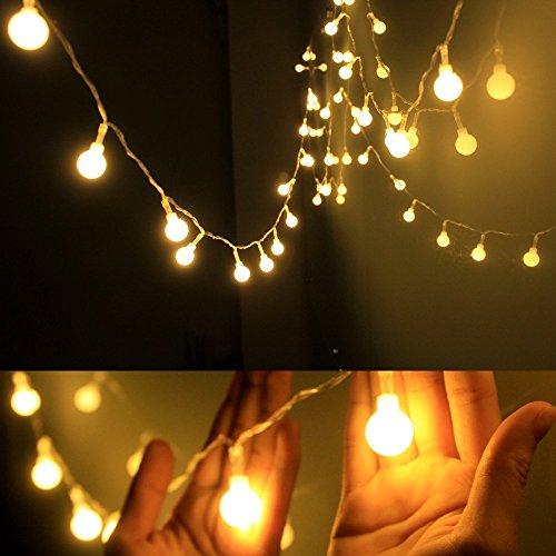 Gledto イルミネーションライト 電池式ストリングライト 4.3m40個LEDボールライト ロマンチック雰囲気 防水 クリスマス ハロウィン パーティー 誕生日 結婚式 庭 広場 街路樹