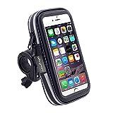 eBuymore TM タッチスクリーン バイクマウント 防水 携帯電話 GPSケース 自転車 ハンドルバー ホルダーバッグ Samsung Galaxy S9 Active/iPhone XS Max/iPhone XR/Sony Xepria XZ3 / LG G7 Fit/Huawei Mate SE/Mate 20 Lite用
