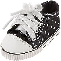 【ノーブランド 品】アメリカンガール 人形 ファッション 黒 スニーカー 靴 人形の靴 ドール