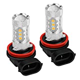Sugeryy LED フォグ バルブ H8 H11 H16 兼用 80W 美光イエロー プレミアム光 イエロー フォグランプ 2800-2900K 2個セット
