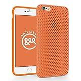 iPhone 6 Plus メッシュ ケース AndMesh Mesh Case for iPhone 6 Plus 日本製 エラストマー ソフトケース 割れない傷つかない優しい質感 Orange 橙 オレンジ | AMMSC610-ORN