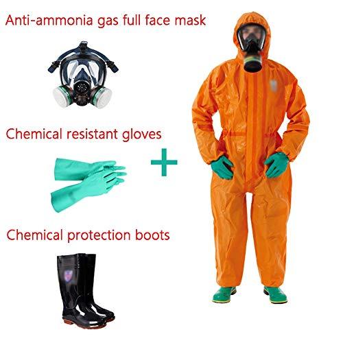 防護服 Vêtement De Protection Chimique 4 Sets Of Heavy-duty Liquid Ammonia Chemical Suits Anti-acid Anti-splash Protection Standard Grade 3 Ggymei