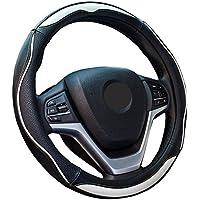 ZATOOTOハンドルカバー 軽自動車 普通車 兼用 ステアリングカバー 滑りにくい グリップ感抜群 おしゃれ PUレザー sサイズ LY124-W