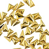 Buddy Style 三角 モチーフ スタッズ メタルパーツ ネイルパーツ デコパーツ ゴールド 5mm 50個入り