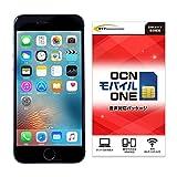 Apple SIMフリースマホ iPhone 6S (米国版 メーカー整備品) 【OCNモバイルONE 音声対応SIM】 (スペースグレイ)