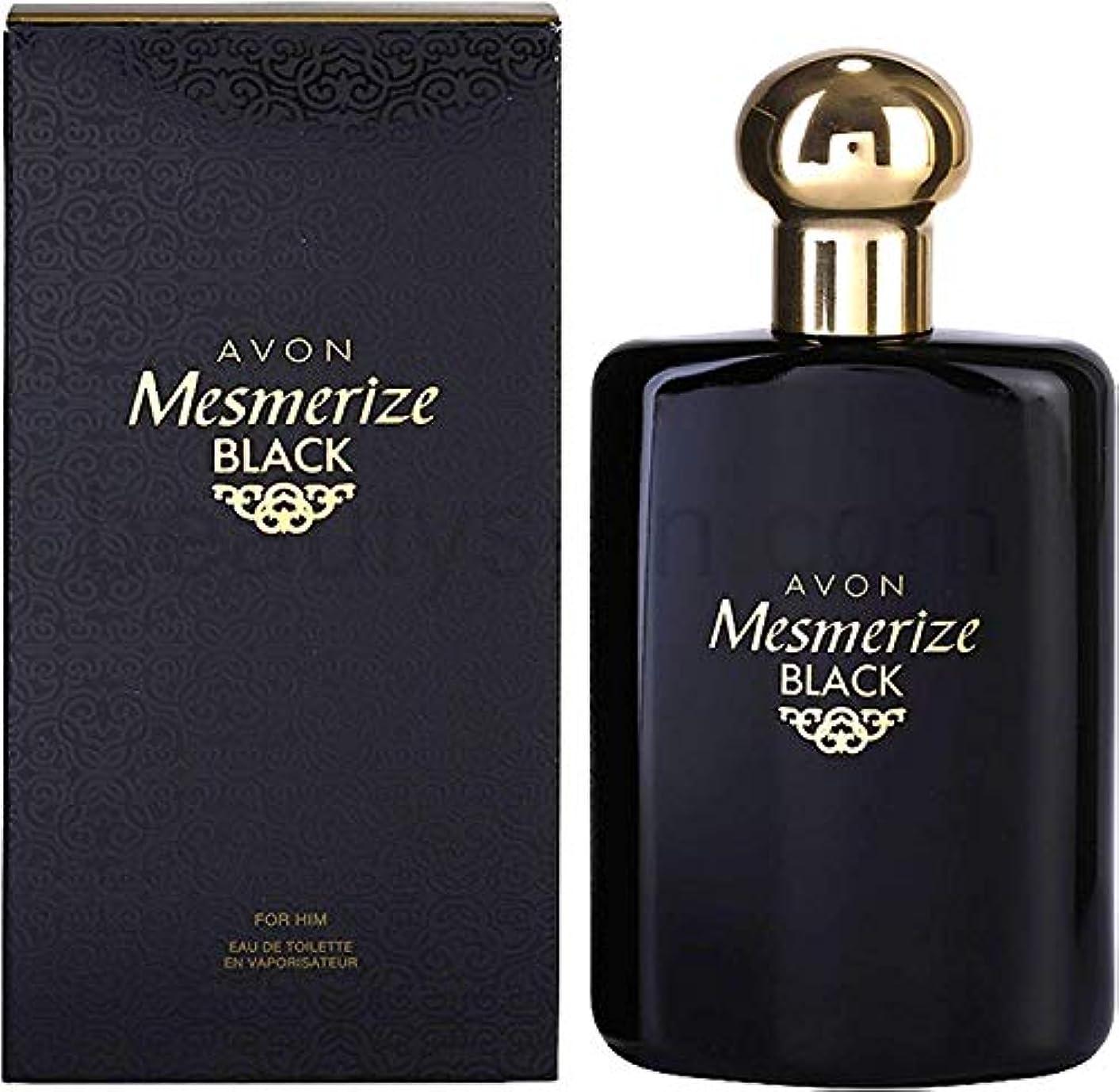 ばかげた請願者ログAVON Mesmerize Black For Him Eau de Toilette 100ml