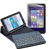 メディアカバーマーケット ASUS ASUS Fonepad 7 LTE ME372-GY08LTE[7インチ(1280x800)]機種用 【Bluetoothワイヤレスキーボード付き タブレットケース と ブルーライトカット液晶保護フィルム のセット】