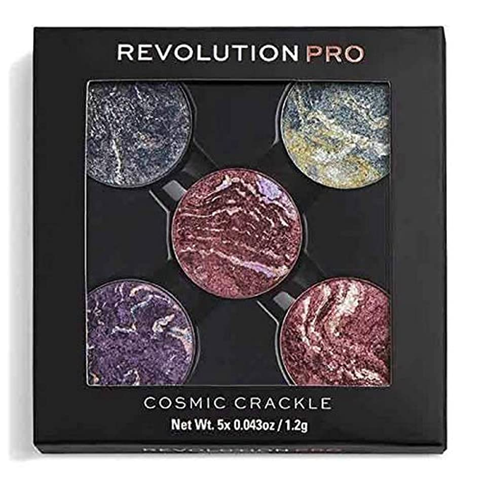 叱る過言支援[Revolution ] 革命プロリフィルアイシャドウは、宇宙クラックルをパック - Revolution Pro Refill Eyeshadow Pack Cosmic Crackle [並行輸入品]