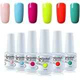 Vishine 6Pcs Soak Off LED UV Gel Nail Polish Varnish Nail Art Starter Kit Beauty Manicure Collection Set C006
