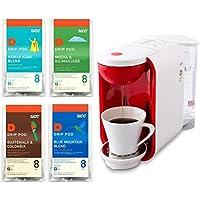 【セット買い】 UCC ドリップポッド 一杯抽出 コーヒーマシン カプセル式 ホワイト×レッド DP2A +  珈琲探究アソート マンスリーセット 32個