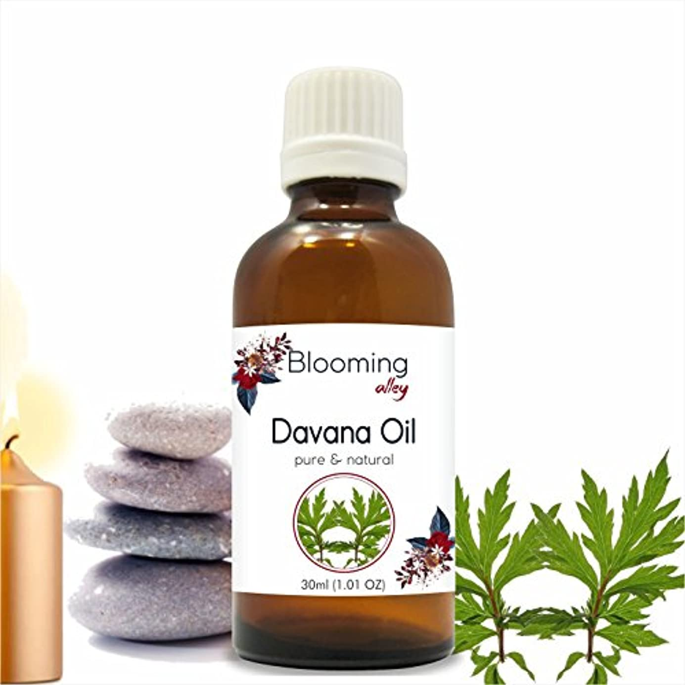 表面的な熱狂的な警告Davana Oil(Artemisia Pallens) Essential Oil 30 ml or 1.0 Fl Oz by Blooming Alley