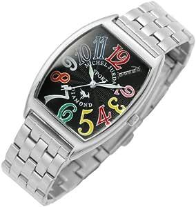 [ミッシェルジョルダン]michel Jurdain 腕時計 ダイヤモンド 5P 入り トノー型  メタル ベルト メンズ ウォッチ ブラックxマルチカラー SG-1000A-2B メンズ