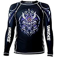 SKAWA Mens Samurai No Gi Long Sleeve Rashguard MMA Shirt BJJ Rash Guard for Men