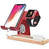 apple watch スタンド スマホ スタンド LAMEEKU® iphone スタンド Phone スタンド タブレットスタンド ホルダー 対応 携帯電話 iPhone X 10 8 plus 7 plus 6 6s plus 5 5s se,ipad Nexus 7 REGZA Xperia Galaxy LG SONY Kindle Nintendo Switch対応 (レッド)
