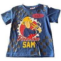 Fireman Sam Boys Kids 100% Cotton Short Sleeve T-Shirt Top