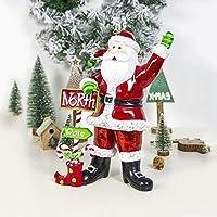 YUANGH 人形の飾りアクセサリーシーン装飾、サイズ塗装2つのPCSクリスマスクリエイティブ樹脂工芸:24x29CM ZHUHX YUANGH123