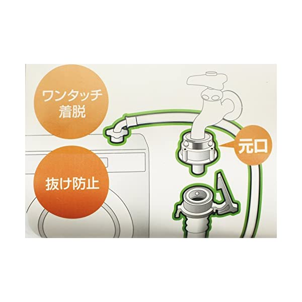 自動洗濯機給水ホース 1m PT17-1-1の紹介画像4