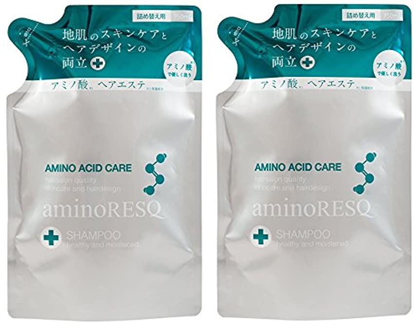 窓を洗う知らせるうんざり【2個セット】aminoRESQ アミノレスキュー シャンプー詰替