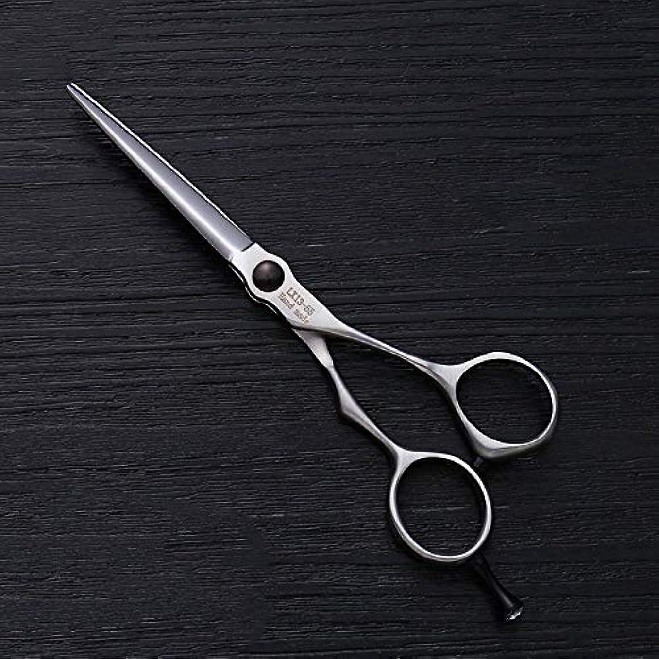 学んだ入り口ブレークHairdressing 5.5インチの理髪はさみステンレス鋼の平らなせん断前髪はさみ毛の切断はさみステンレス理髪はさみ (色 : Silver)