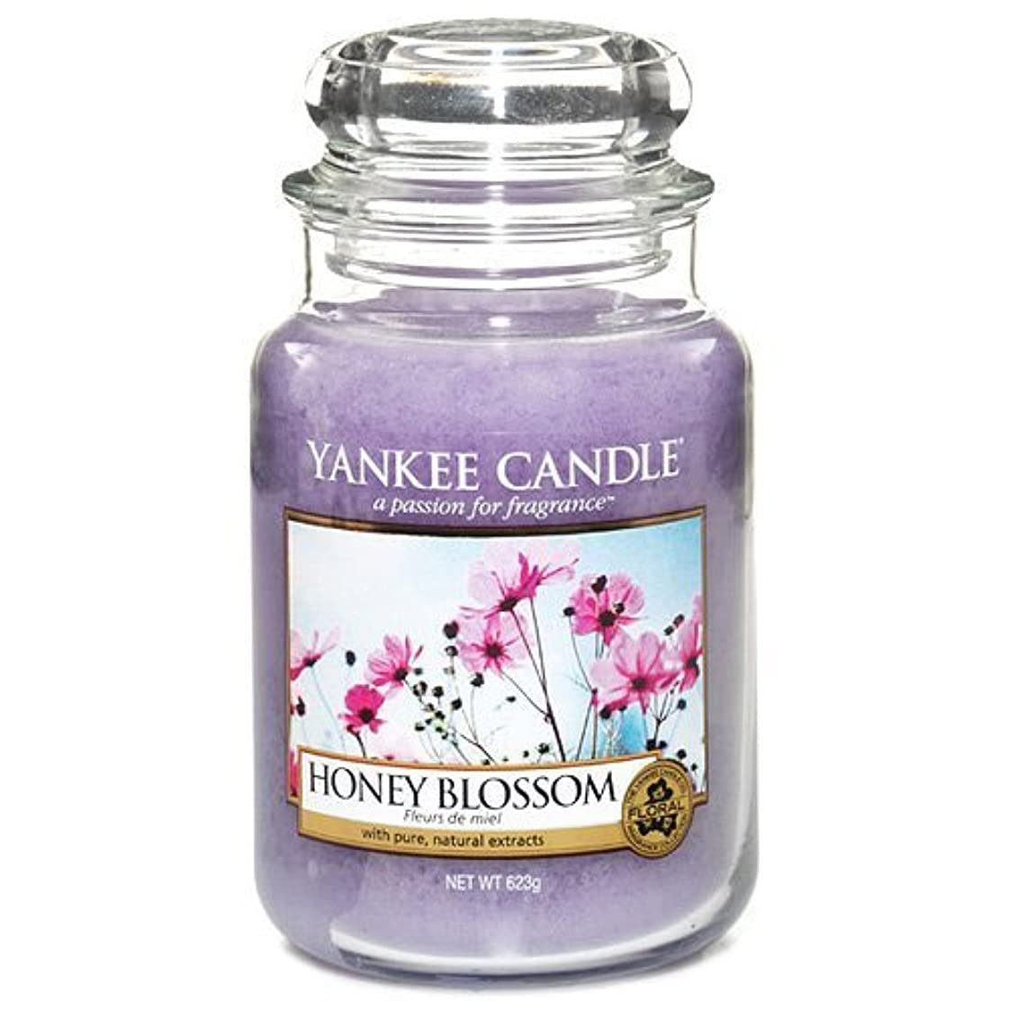 貼り直すアッパーテスピアンYankee Candle Large Jar Candle, Honey Blossom by Yankee [並行輸入品]