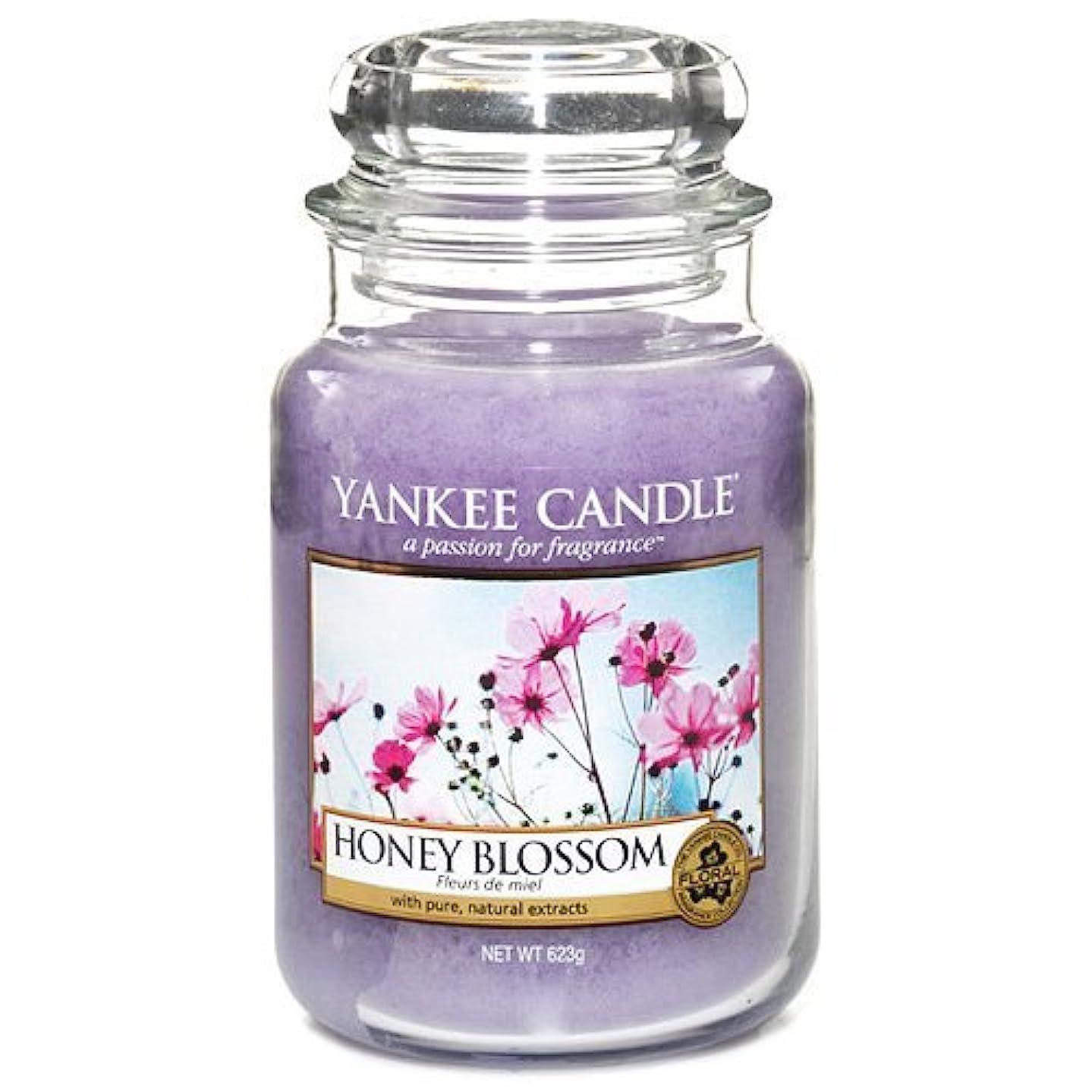 診断するサイレン安定しましたYankee Candle Large Jar Candle, Honey Blossom by Yankee [並行輸入品]