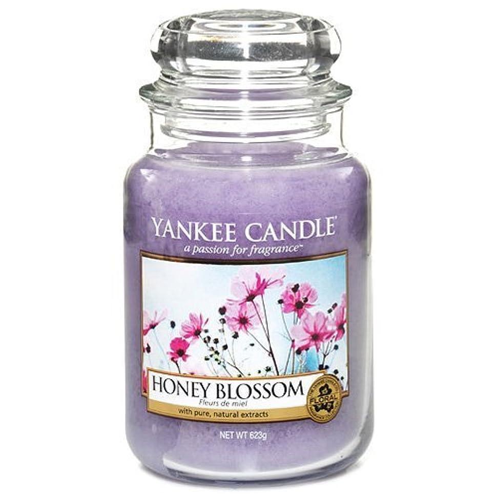 フェザーラッドヤードキップリングローズYankee Candle Large Jar Candle, Honey Blossom by Yankee [並行輸入品]