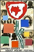 ポスター ドナルド バチェラー モストリー モーツァルト フェスティバル 1995年 限定800枚 額装品 アルミ製ハイグレードフレーム(ブラック)