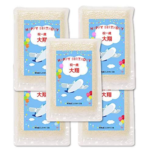 一升 米 1 歳 2合*5個 一升餅の代わり 新潟産コシヒカリ (ひこうき)