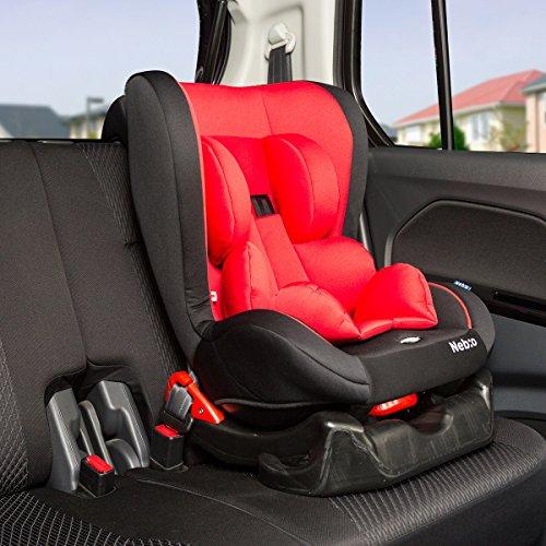 【新生児~4歳頃までのチャイルドシート 車内ゆったりコンパク...