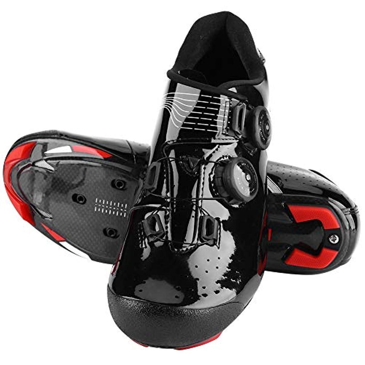 水没珍しい人事サイクリングシューズ バイクシューズ 自転車シューズマウンテン 耐衝撃保護 着心地の良さ 通気性 反射性ストラップ付き 調整簡単 素晴らしいアクセサリー