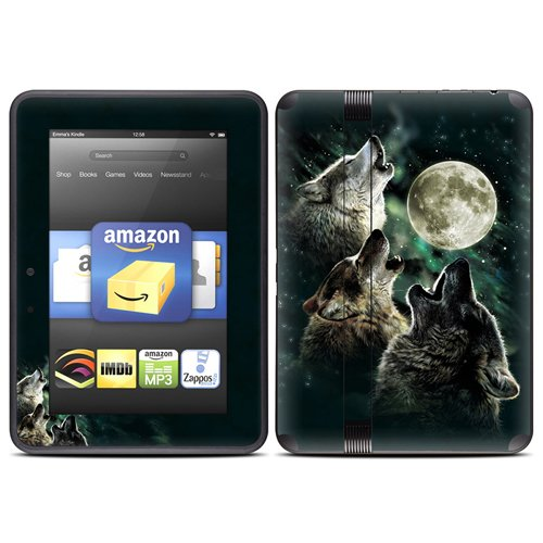 DecalGirl スキンシール Kindle Fire HD(2012年モデル)専用スキン - Three Wolf Moon