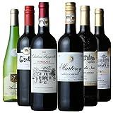 【Amazonワインエキスパート厳選】フランス金賞受賞ワイン 赤・白 飲み比べ 750ml×6本セット