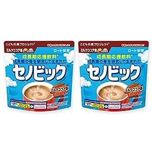 【まとめ買い】 セノビック 成長期応援飲料 ミルクココア味 224g×2個(約1ヶ月分) ロート製薬公式