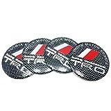 トウタク(Taotuo)ホイールセンターキャップ  シ-ル   ステッカー  デカール  TRD  ティーアールディ  テープタイプ  3D立体  直径 55.5mm  高品質  アルミ製  4点セット