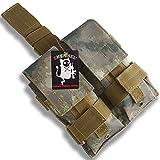 SHENKEL 軽量 2連 レッグマガジンホルダー マガジンポーチ M4/AK/G36/MP5/G3 7色展開 (A-TACS AU)